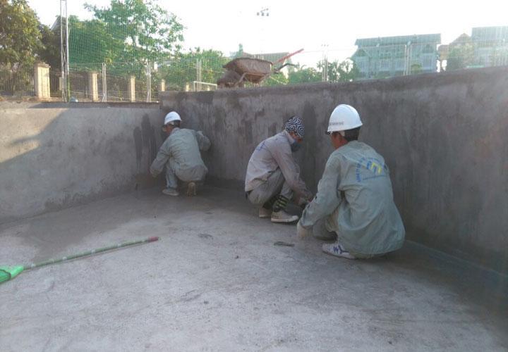 Quy trình thi công chống thấm bể tại Nghệ An