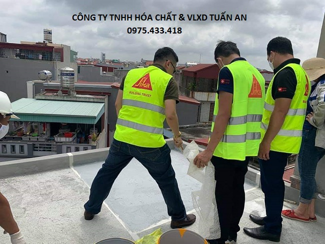 Thi công chống thấm sàn mái trường học | Sika Tuấn An