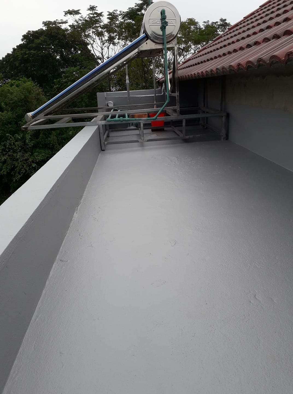 Thi công chống thấm mái bằng Sikalastic 590